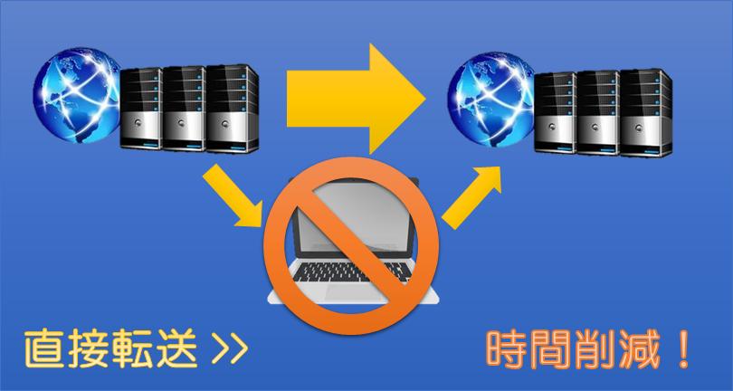SSH(wget)を使用してサーバーからサーバーへ直接ファイルを転送